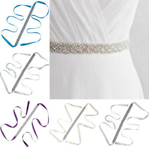 Fashion Women's Crystal Rhinestone Dress Bridal Belt Sash Bride Wedding Handmade