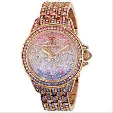 JUICY COUTURE Swarovski WATCH Women Stella BLING Rose Gold Stainless Steel Ombre