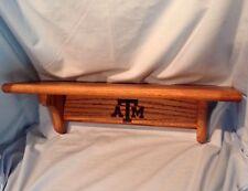 "Texas A&M Oak Shelf 18"" Grooved shelf & Grooved back for easy hanging $48.99"