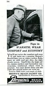 1941 Brown's Beach Jackets Winter Coat Print Ad