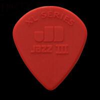 Dunlop Nylon Jazz III XL Guitar Picks - 1.38mm Red - 1 2 3 4 5 6 10 12 20 24 36