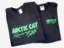 Two Arctic Cat Racing Screen Printed Black T-Shirts 6.1 oz. 100% Cotton