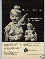 1967 PAPER AD Mattel Cheerful Tearful Mini Baby Miniature