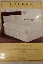 Ralph Lauren Gold Comfort 500 Tc Dobby Stripe Down Top Full Sz Featherbed White