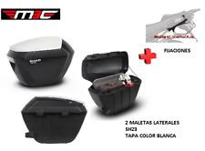 KIT SHAD fijacion+ maletas laterales tapa blanca SH23 SUZUKI V-STROM 650 (2017)