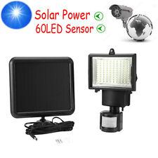 60 LED Lampe Solaire Projecteur Capteur Détecteur Mouvement Jardin Extérieur