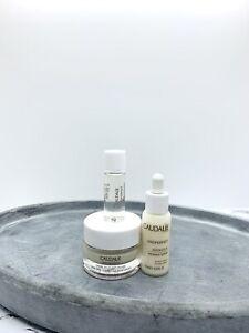 CAUDALIE Vinoperfect Trial Size Set- Brightening Essence, Cream & Radiance Serum