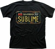 SUBLIME Long Beach targa auto Stampato Nero T-shirt di cotone OZ9593