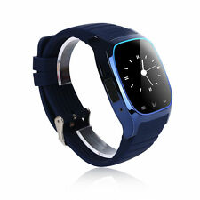 Neuf bluetooth smart watch pour android & ios devices built in mic & haut-parleur bleu