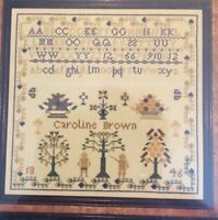 Handwork Samplers Caroline Brown 1846 Cross Stitch Chart Pattern OOP M Riggs New