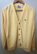Vintage Men's Steeplechase Yellow Cardigan Sweater Size Large