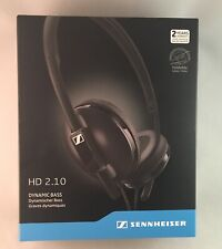 Sennheiser HD 2.10 On-Ear Closed Back Wired Headphones - Black