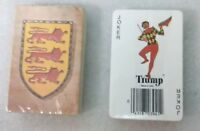 NOS Vintage lot of 2 unopened Decks Trump Playing Cards Lion & Strawberry RARE