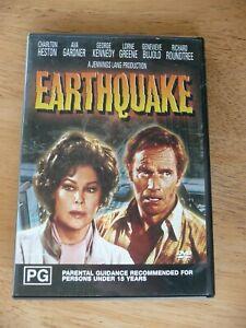 EARTHQUAKE DVD CHARLTON HESTON AVA GARDNER VERY GOOD PAL REGION 4 AUS