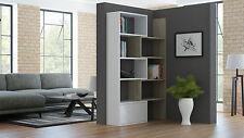 Extendable Bookcase Home Office Bookshelf Modern Board Geometric White Sonoma
