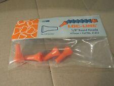 """4 Pieces Loc-Line 41403 1/8"""" Round Nozzle New"""