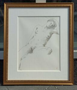Josef Erhardy  monogrammed nude study