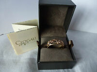 Clogau Welsh Gold, 9ct Rose & Yellow Gold Tree of Life Band Ring, size P 1/2