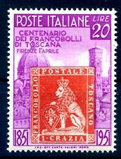 FRANCOBOLLI DI TOSCANA  1951 -  20 Lire NUOVO  **