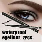 2pcs Waterproof Rotary Gel Cream Eye Liner Black Makeup Cosmetic Eyeliner Pen JR