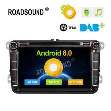 "8"" Android 8.0 Car Radio DVD Player GPS Multimedia for VW Touran Tiguan Golf"