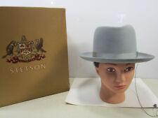 Vintage 6 7/8 Royal Stetson Playboy Gray Wool Hat w/Original Box