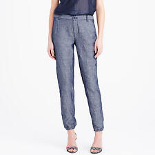 J.Crew Lightweight Cuffed Chambray Trouser  Pant Size 10 NWT
