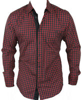 New Hugo Boss Mens Casual Shirt in Red Colour Size:L
