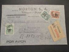 1947 Montevideo Uruguay Cleveland Ohio USA Business Registered Airmail  Cover