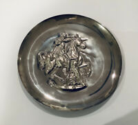 Unicorn Dyonisiaquw By Salvador Dali,1971 The Lincoln Mint Sterling Silver Plate