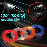 120'' 3m 300cm Car Interior Exterior Adhesive Molding Trim Strip Decorative