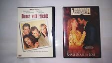 Shakespeare in Love (Dvd, 1999) Dinner With Friends (2001)