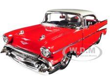 "1957 CHEVROLET BEL AIR RED ""BIG TIME MUSCLE"" 1/24 DIECAST MODEL CAR JADA 98944"