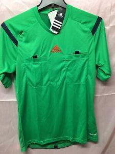 Adidas Mls FIFA Soccer Referee Jersey Green Short Sleeve Mens Size Small