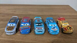Disney Pixar Cars - Diecast Toy Car Bundle x5 - Cal Ponchy Rev Sage Camino A11