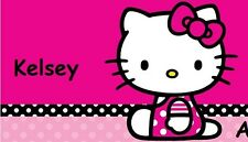 HELLO KITTY HEART CHECKBOOK COVER PINK BOW angel devil polka dot personalized