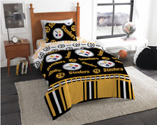 Pittsburgh Steelers Nfl Twin Comforter & Sheet Set (4 Piece Bed in A Bag)