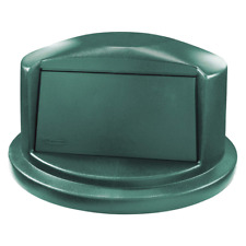 RUBBERMAID Round Dome Top Trash Can Top for 32 gal., Green - 1829397