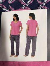 Nautica Womens 2 Pc Pajama Set Size XLarge NEW