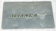Rare Vintage Avianca Airlines Metal Ticket Validation Plate Travel Agency