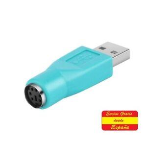 Adaptador de Ratón a USB. Convertidor PS/2 Hembra a USB Conector