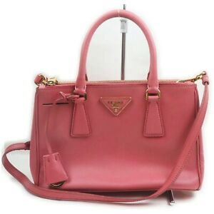 Prada Hand Bag  Pinks Leather 1903081