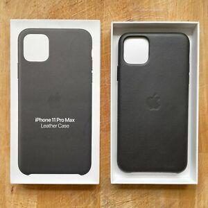 Genuine Apple iPhone 11 Pro Max Leather Case - Black