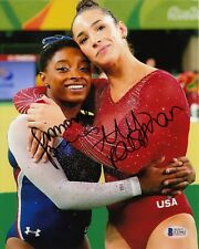 Simone Biles Aly Raisman Olympics Gymnasti #0  Signed 8x10 Photo Beckett  090918