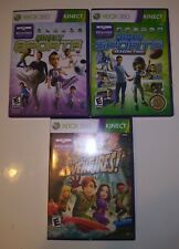 Kinect Sports Season One 1 & Two 2 + Kinect Adventures Xbox 360 Video Game Lot