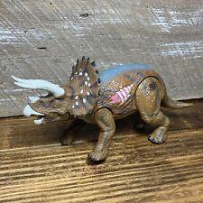 Jurassic Park 3 Re-Ak A-Tak Triceratops Dinosaur Action Figure Toy w/Sounds