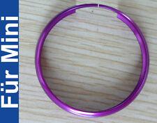 1x Clé émetteur anneau en aluminium pour MINI COOPER S one jcw CLUBMAN Violet