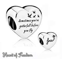 Pandora Genuine ALE 925 Silver Heart of Freedom Charm 791967