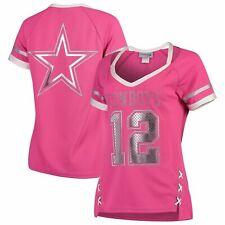 Dallas Cowboys Football Women's Medium M Vixen Fashion Jersey Top Pink Staubach