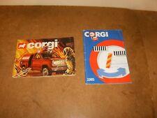 2 anciens catalogues vintage - miniatures CORGI toy vehicles - 1980/81 & 1985
